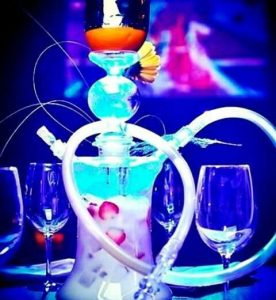 hookah with fruits